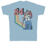 Transformers Optimus 84 Mens Vintage Style T Shirt