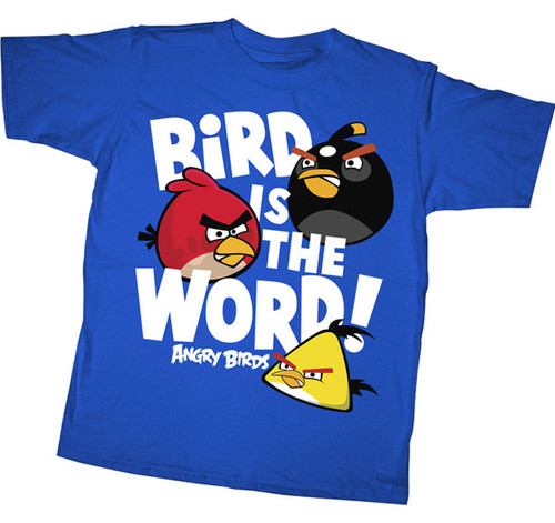 Angry Birds Bird is the Word Youth Tee Shirt