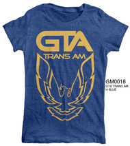 Vintage Style GTA Trans Am Blue Womens Tee Shirt