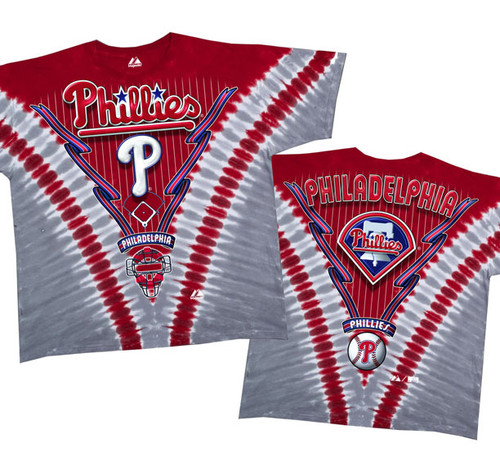 Philadelphia Phillies V Dye Mens Tee Shirt