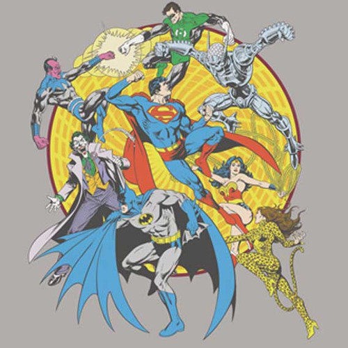 DC Comics Super Heroes Spin Circle Fight Toddler T Shirt