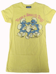 Have a Smurfy Day Womens Tee Shirt by Junk Food Clothing