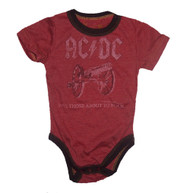 Rowdy Sprout ACDC For Those About to Rock Bodysuit