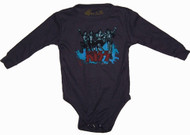 Rowdy Sprout Kiss Long Sleeve Thermal Infant Bodysuit