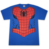 Spider Man Uniform Muscle Chest Mens Tee Shirt