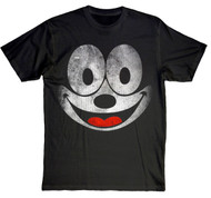 Vintage Style Distressed Felix the Cat Mens Tee Shirt