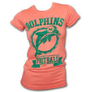 Junk Food NFL Miami Dolphins Girly T-Shirt with Flocking