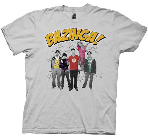 The Big Bang Theory Bazinga Group Mens Tee Shirt