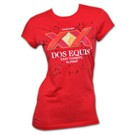 Dos Equis Stay Thirsty Red Womens Tee Shirt