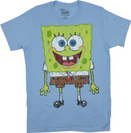 Distressed Big Spongebob Squarepants Mens T-Shirt