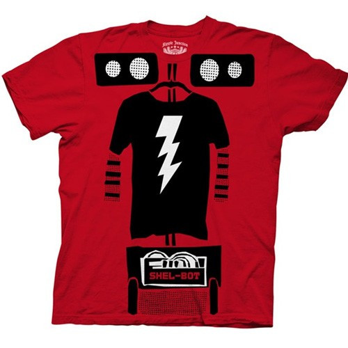 The Big Bang Theory Shel-Bot Costume Mens Tee Shirt