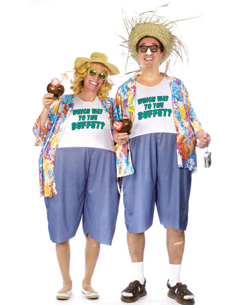 Adult Unisex Mens Tacky Traveler Costume