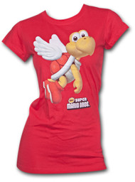 Nintendo Super Mario Brothers Flying Koopa Red Womens T Shirt