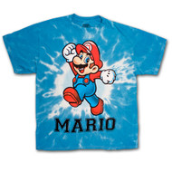 Nintendo Super Mario Brothers Blue Tie Dyed T-Shirt