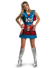 Deluxe The Simpsons Duffwoman Womens Costume