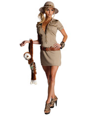 Womens Tarzan Jane Hunter Sexy Costume