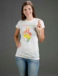Omni Peace Watercolor Womens T-Shirt by Junk Food Clothing