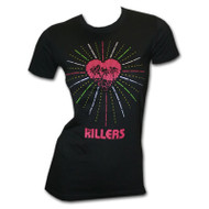 The Killers Heart Rays Black Juniors Graphic Tee Shirt