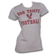 True Blood Bon Temps Football Ash Gray Juniors Graphic Tee Shirt