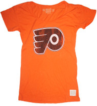 Vintage NHL Philadelphia Flyers Ladies Boyfriend T-Shirt in Orange