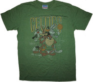 Junk Food NBA Boston Celtics Looney Toons Mens T-Shirt