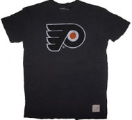 Vintage NHL Philadelphia Flyers Mens Slub T-Shirt in Desert Black