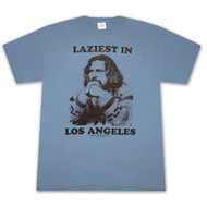 The Big Lebowski Laziest In LA Slate Blue Graphic T Shirt