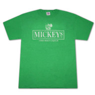 Mickey's Distressed Hornet Logo Green Graphic Tee Shirt