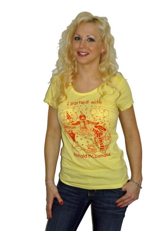 I Partied With Ronald McDonald McDonalds Vintage Ladies T-Shirt