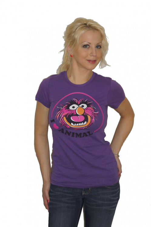 The Muppets I Love Animal Ladies T Shirt
