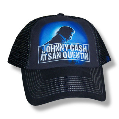 Johnny Cash San Quentin Truckers Cap b938ffb9826