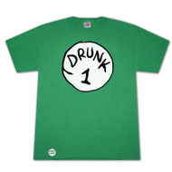 Dr. Seuss Inspired Drunk 1 Bottle Opener Green Graphic Tee Shirt