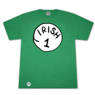 Dr. Seuss Inspired Irish 1 Bottle Opener Green Graphic Tee Shirt
