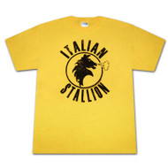 Rocky Italian Stallion Yellow Graphic Tee Shirt