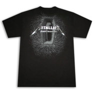 Metallica Death Magnetic Coffin Black Graphic Tee Shirt