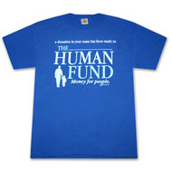 Seinfeld Human Fund Donation Royal Blue Graphic TShirt