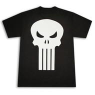 Punisher Plain Jane White Skull Black Graphic Tee Shirt