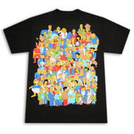 Simpsons Crowd Glowing Homer Black Graphic T-Shirt