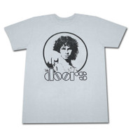 The Doors Point Light Blue Enzyme Wash Graphic TShirt