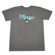 Foo Fighters Blue Logo Grey Graphic Tee Shirt