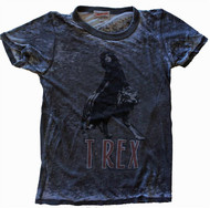 Junk Food T Rex Get Faded Ladies Vintage T-Shirt