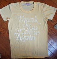 Junk Food Thank You, Come Again Fade Away Ladies T-Shirt