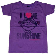 Little Miss Sunshine I Love Sunshine T-Shirt by Junk Food Clothing