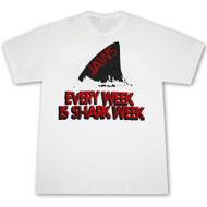 Jaws Every Week Is Shark Week White Graphic TShirt
