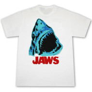 Jaws Wide Mouth White Graphic TShirt