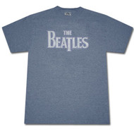 The Beatles Vintage Logo Heather Blue Graphic T-Shirt