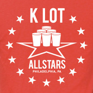 K LOT ALL STARS MENS AND WOMENS RED SHIRT