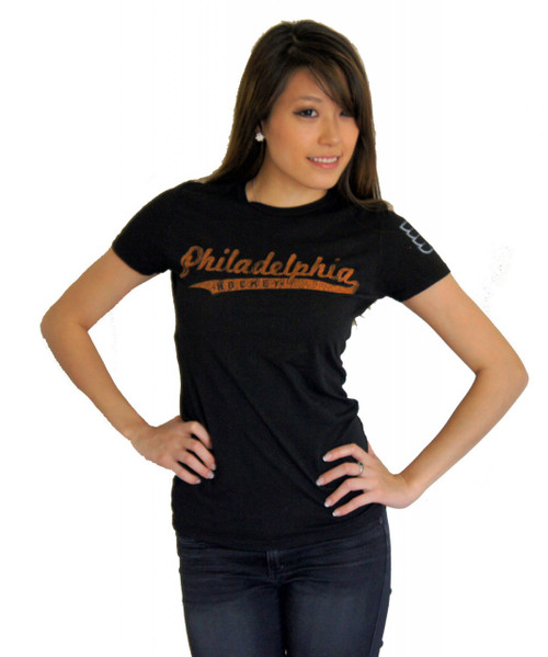 Vintage NHL Philadelphia Flyers Hockey Ladies 2 Hit T Shirt