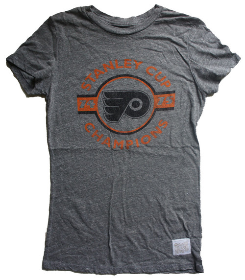 Vintage NHL Philadelphia Flyers 1974-75 Stanley Cup Champs Ladies T-Shirt
