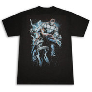 Batman & Bane Black Mens T-Shirt